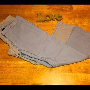 Alfani Flat Front Bundle pants, 34x30, Gray/ Taupe